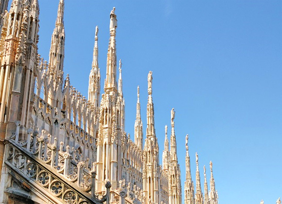 Duomo di Milano, its spires and the sky...